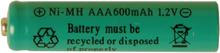 Reservbatteri AAA till solcellslampor