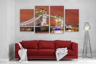 Store A1 A2 A3 panelet panoramautsikt lerret veggen kunst maleri av...