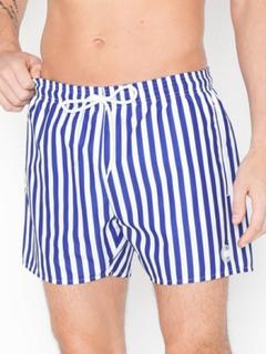 Topman Blue and White Stripe Swim Shorts Badetøj Multi