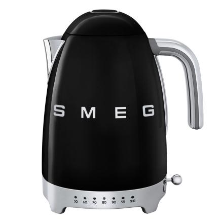 Smeg - Smeg Vannkoker med temperatur 1,7L, Sort