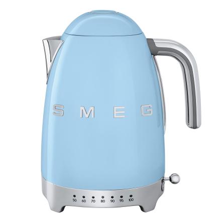 Smeg - Smeg Vannkoker med temperatur 1,7L, Pastellblå