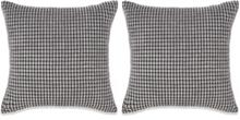 vidaXL Kudde 2 st velour grå 60x60 cm
