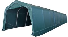 vidaXL Vindskydd för boskap PVC 550 g/m² 3,3x12,8 m mörkgrön