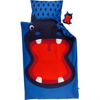 Økologisk Baby sengetøj - Freds World - 70x100 cm - Flodhest - Home-tex