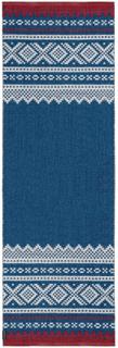 Marit gulvteppe 70 x 70 cm Blå - Rød