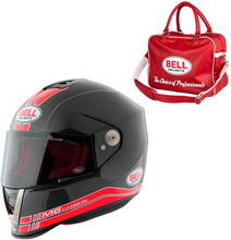 Bell Motorcykelhjälm M6 Carbon Race, black/red, large (59-60) MC-tillbehör