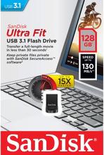 SANDISK Sandisk USB hukommelse 3.1 UltraFit 128GB