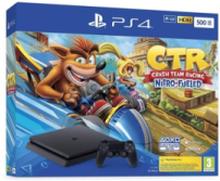 PlayStation 4 Slim Black - 500GB (Crash Team Racing Nitro-Fueled)