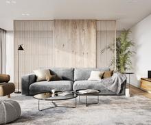 DELIFE Big-Sofa Feres 290 x 130 fluweel zilvergrijs