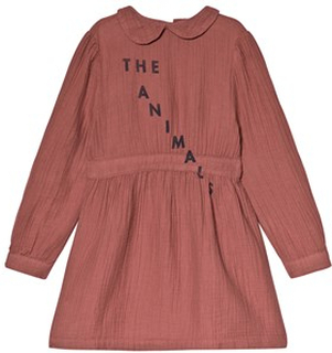 The Animals Observatory Canary Dress Maroon Navy The Animals 2 år