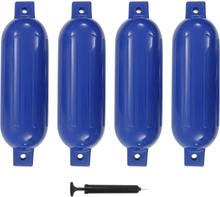 vidaXL Båtfender 4 st blå 51x14 cm PVC