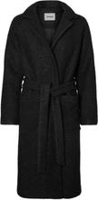 NOISY MAY Long Wool Coat Women Black