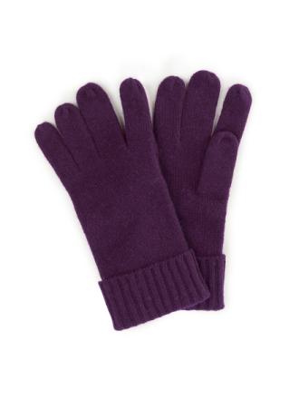Handsker i 100% kashmir Fra Peter Hahn Cashmere lilla - Peter Hahn