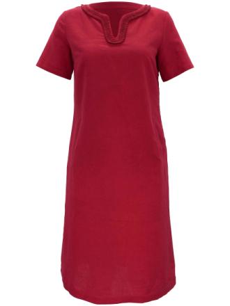 Kjole 1/2-lange ærmer 100% hør Fra Anna Aura rød - Peter Hahn