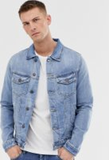 Jack & Jones Intelligence denim jacket in light wash - Blue