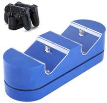 USB Dual oplader til PS4 Joystick - Blå