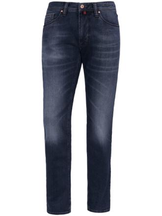 Jeans, model Lyon Fra Pierre Cardin blå - Peter Hahn