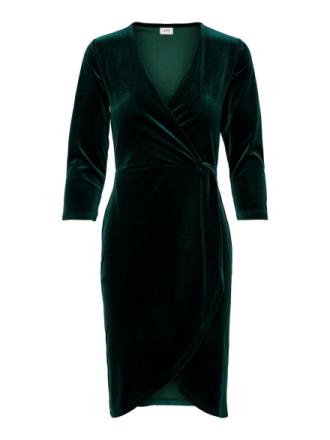 ONLY Velvet Wrap Dress Women Green