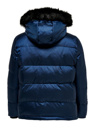 ONLY Curvy Down Jacket Women Blue