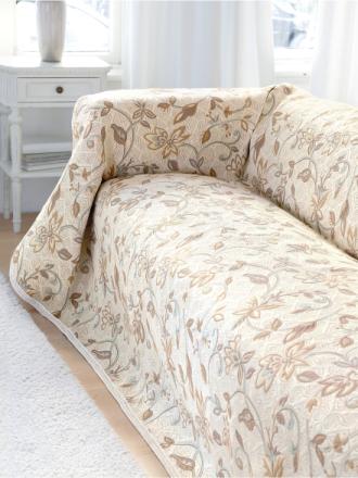 Überwurf für Couch und Bett ca. 160x270 cm Peter Hahn weiss