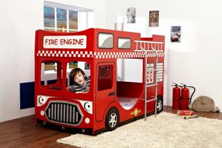Brannbil køyeseng 70×160 – med ratt!