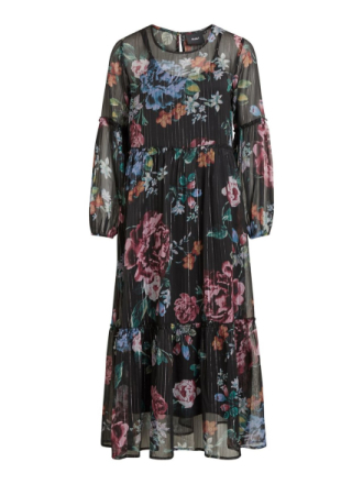 OBJECT COLLECTORS ITEM Boho, Floral Maxi Dress Women Black