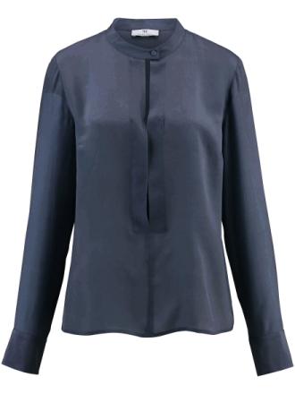 Skjorte 100% silke Fra Peter Hahn blå - Peter Hahn