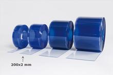 Multiporten PVC-ridå med stripes klar transparens 200x2 mm
