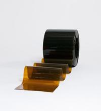 Multiporten PVC-ridå med stripes bronsfärgad mot UV-ljus 300x2 mm