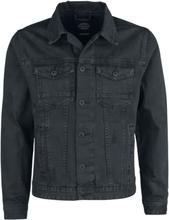 Shine Original - Dusty Black Slim Fit Denim Jacket -Dongerijakke - svart