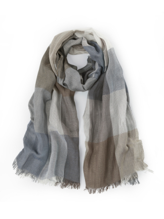 Tørklæde i crinkle-look Fra Peter Hahn multicolor - Peter Hahn