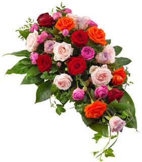Båredekorasjon med roser