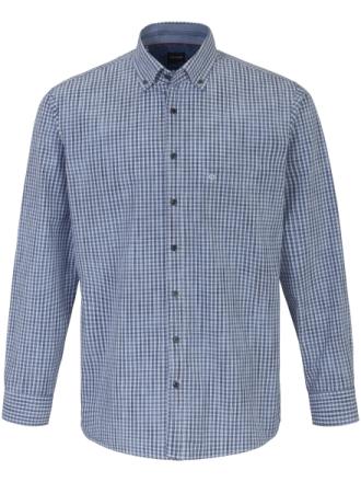 Skjorte moderne lille button-down-flip Fra Olymp blå - Peter Hahn