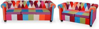 Chesterfield-sofaer 2 stk. stof