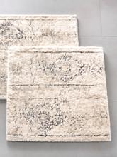 Badematte ca. 70x120cm Kleine Wolke weiss