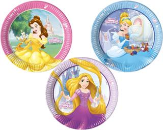 Disney Prinsesser tallerkner, Ø23 cm, 8 stk