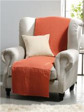 Überwurf für Couch und Bett ca. 250x270cm Peter Hahn orange