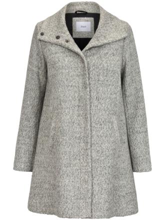 Frakke i moderne stil Fra zizzi grå