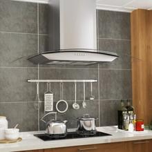 Vægmonteret emhætte 90 cm rustfrit stål 756 m³/t. LED