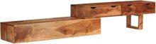 vidaXL TV-bänk massivt sheshamträ brun 200x35x36 cm