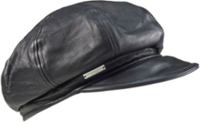 Ballongkeps i äkta läder från Seeberger svart