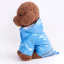5 Farben Wasserdicht PU Reflektierende Streifen Hund Regenmantel Haustier Windjacke