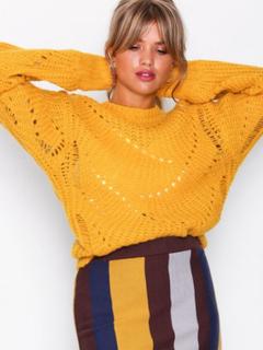 NLY Trend Pattern Detail Knit Stickade tröjor Gul