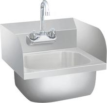 vidaXL kommerciel håndvask med vandhane rustfrit stål