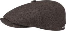 Stetson Hatteras Wool Mix Flat Cap Herr Keps Brun XL