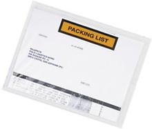 Dokumententaschen RAJALIST Super bedruckt, ''Packing List'' 165 x 115 mm, Mini-Pack