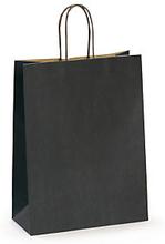 Papiertasche mit gedrehter Kordel schwarz 400x470x190 mm