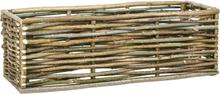 vidaXL Upphöjd odlingslåda 120x40x40 cm hasselträ