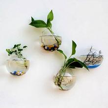 Kreativer Wandbehang Transparente Glasvase Hydroponische Wohnzimmer Heim Verzierung