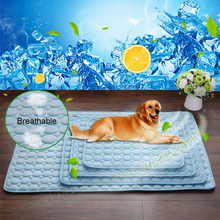 Indoor-Sommer-kühles Matten-abkühlendes Haustier-Hundekatzen-Bett-kühle Gel-Auflage-Viskose-Faser-Matten